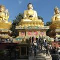 Unterhalb der Swayambhu Tempelanlage